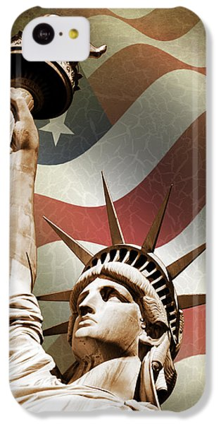 Statue Of Liberty IPhone 5c Case by Mark Rogan