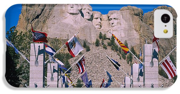 Statues On A Mountain, Mt Rushmore, Mt IPhone 5c Case by Panoramic Images