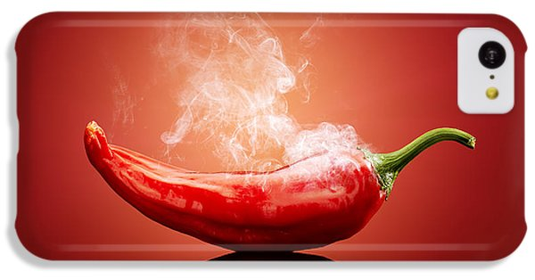 Vegetables iPhone 5c Case - Steaming Hot Chilli by Johan Swanepoel
