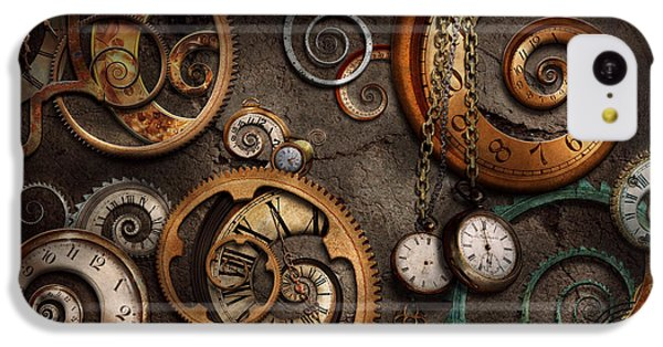 Doctor iPhone 5c Case - Steampunk - Abstract - Time Is Complicated by Mike Savad