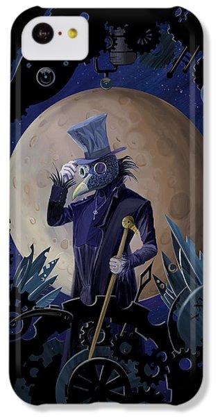 Raven iPhone 5c Case - Steampunk Crownman by Sassan Filsoof