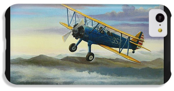 Stearman Biplane IPhone 5c Case by Stuart Swartz