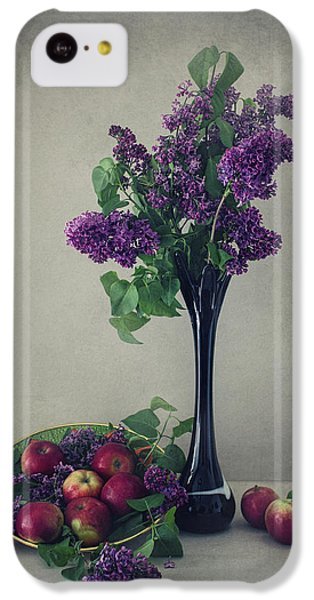 Fruit Bowl iPhone 5c Case - Still Life With Lilac by Dimitar Lazarov -