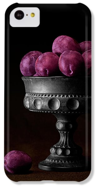 Fruit Bowl iPhone 5c Case - Still Life With Plums by Tom Mc Nemar