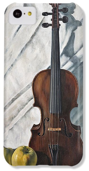 Violin iPhone 5c Case - Still Life With Violin by John Lautermilch