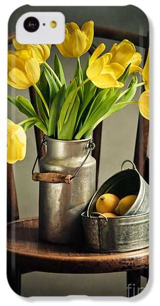 Tulip iPhone 5c Case - Still Life With Yellow Tulips by Nailia Schwarz