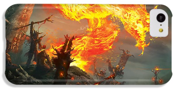 Wizard iPhone 5c Case - Stoke The Flames by Ryan Barger