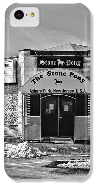 Stone Pony In Black And White IPhone 5c Case by Paul Ward