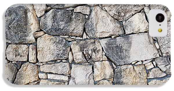Stone Wall Texture IPhone 5c Case by Antony McAulay