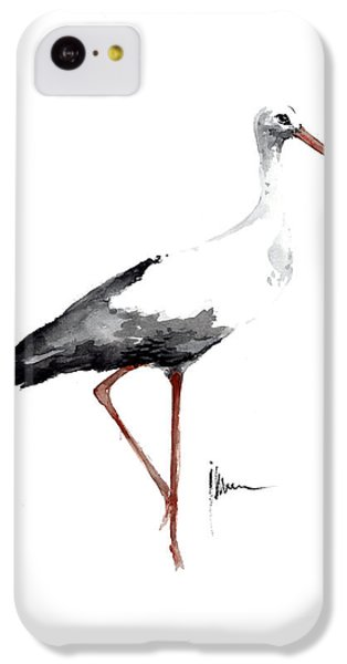 Stork iPhone 5c Case - Stork Watercolor Art Print Painting Birds Ideas Large Poster For Sale by Joanna Szmerdt