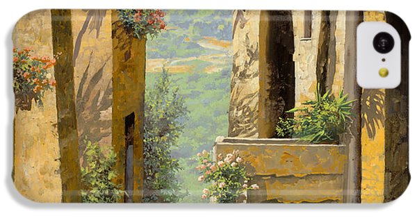 Landscape iPhone 5c Case - stradina a St Paul de Vence by Guido Borelli