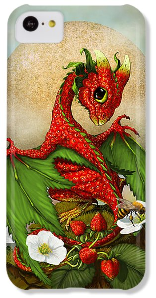 Dragon iPhone 5c Case - Strawberry Dragon by Stanley Morrison