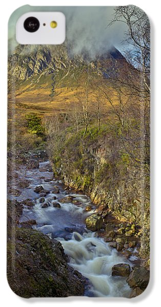Stream Below Buachaille Etive Mor IPhone 5c Case by Gary Eason