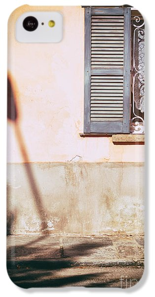 IPhone 5c Case featuring the photograph Street Lamp Shadow And Window by Silvia Ganora