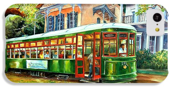 Figurative iPhone 5c Case - Streetcar On St.charles Avenue by Diane Millsap