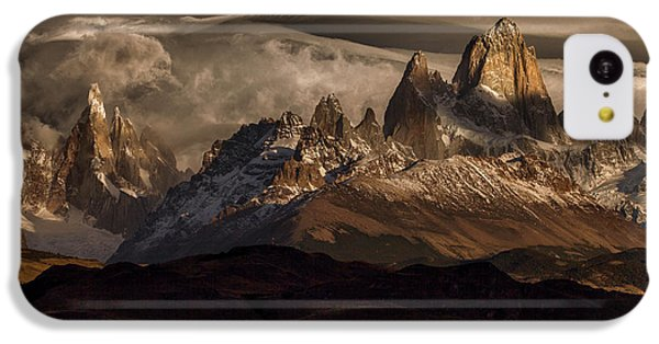 South America iPhone 5c Case - Striped Sky Over The Patagonia Spikes by Peter Svoboda, Mqep