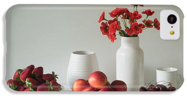 Fruit Bowl iPhone 5c Case - Summer Fruits by Jacqueline Hammer