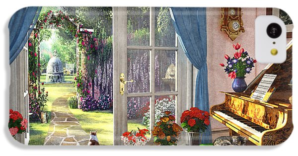 IPhone 5c Case featuring the painting Summer Garden View by Dominic Davison