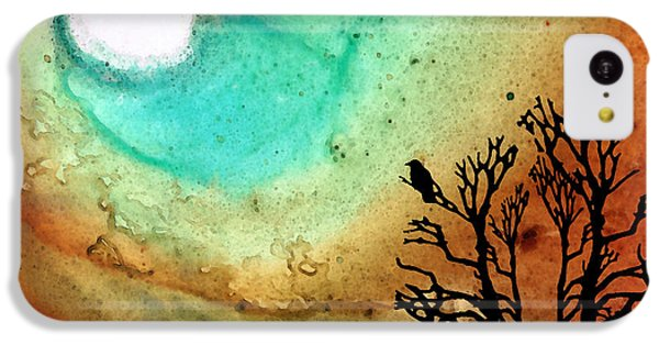 Summer Moon - Landscape Art By Sharon Cummings IPhone 5c Case by Sharon Cummings