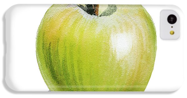 IPhone 5c Case featuring the painting Sun Kissed Green Apple by Irina Sztukowski