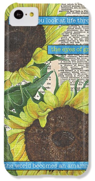 Sunflower iPhone 5c Case - Sunflower Dictionary 2 by Debbie DeWitt