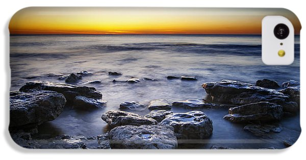 Lake Michigan iPhone 5c Case - Sunrise At Cave Point by Scott Norris