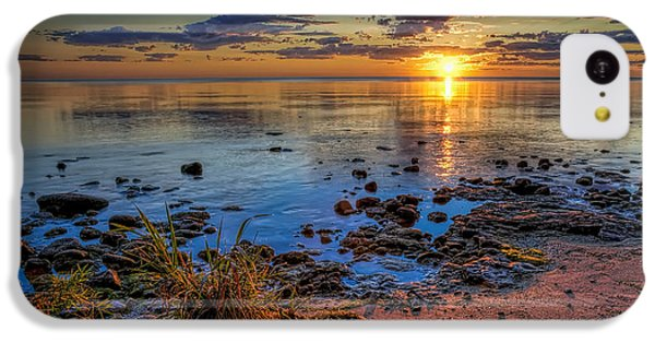 Lake Michigan iPhone 5c Case - Sunrise Over Lake Michigan by Scott Norris