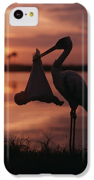 Sunrise Silhouette Of Stork Carrying IPhone 5c Case