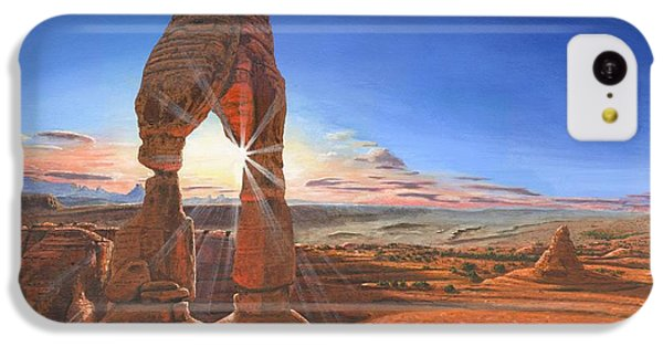 Desert iPhone 5c Case - Sunset At Delicate Arch Utah by Richard Harpum