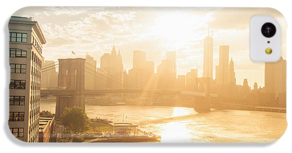 City Sunset iPhone 5c Case - Sunset - Brooklyn Bridge - New York City by Vivienne Gucwa