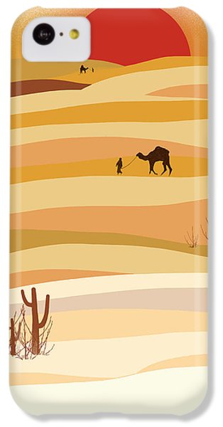 Desert iPhone 5c Case - Sunset In The Desert by Neelanjana  Bandyopadhyay