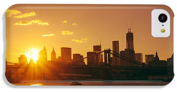City Sunset iPhone 5c Case - Sunset - New York City by Vivienne Gucwa