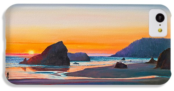 Beach Sunset iPhone 5c Case - Sunset - Oregon Coast by Paul Krapf