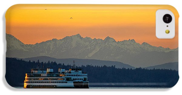 Sunset Over Olympic Mountains IPhone 5c Case by Dan Mihai