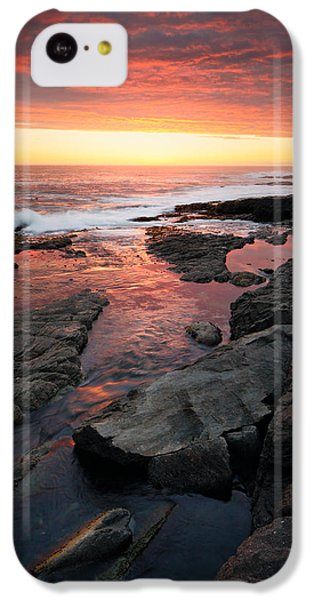 Ocean Sunset iPhone 5c Case - Sunset Over Rocky Coastline by Johan Swanepoel