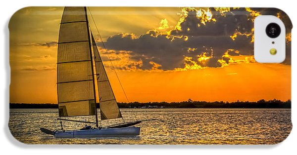 Beach Sunset iPhone 5c Case - Sunset Sail by Marvin Spates