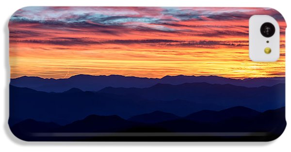 Sunset Silhouette On The Blue Ridge Parkway IPhone 5c Case