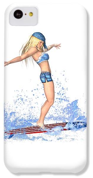 Surfing Girl IPhone 5c Case by Renate Janssen