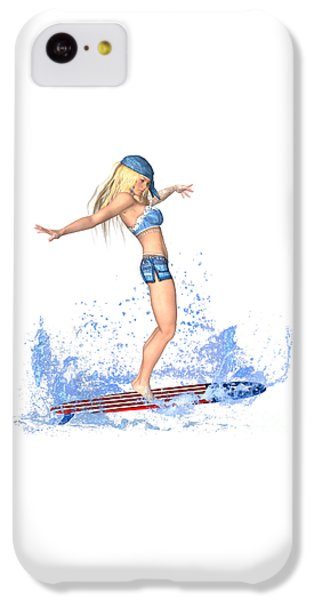 Surfing Girl IPhone 5c Case
