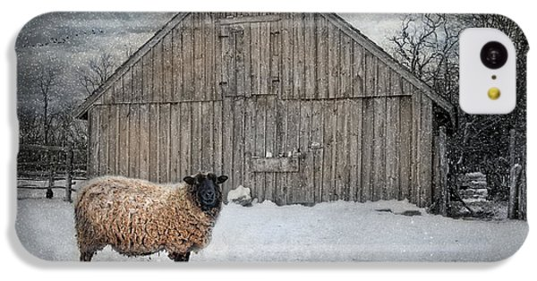 Sheep iPhone 5c Case - Sweater Weather by Robin-Lee Vieira