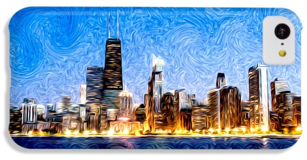 Swirly Chicago At Night IPhone 5c Case
