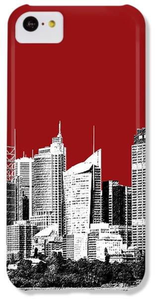Sydney Skyline 1 - Dark Red IPhone 5c Case by DB Artist