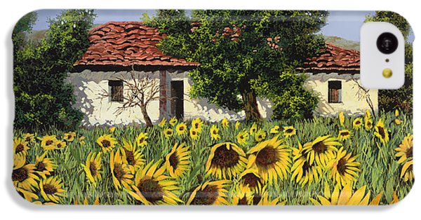 Sunflower iPhone 5c Case - Tanti Girasoli Davanti by Guido Borelli