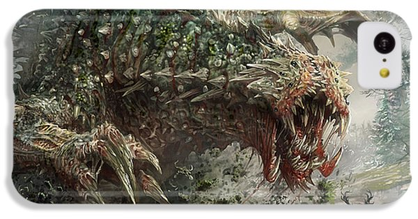 The iPhone 5c Case - Tarmogoyf Reprint by Ryan Barger