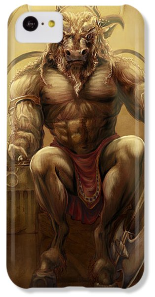 Minotaur iPhone 5c Case - Taurus II by Rob Carlos