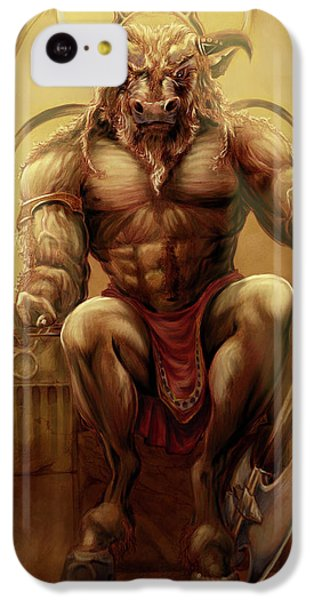 Minotaur iPhone 5c Case - Taurus by Rob Carlos