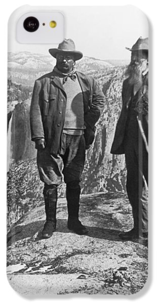 Yosemite National Park iPhone 5c Case - Teddy Roosevelt And John Muir by Underwood Archives
