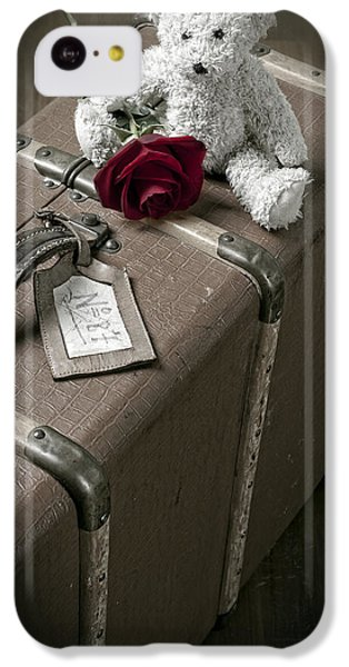 Rose iPhone 5c Case - Teddy Wants To Travel by Joana Kruse
