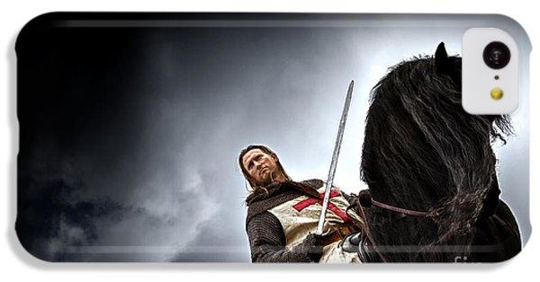 Templar Knight Friesian II IPhone 5c Case by Holly Martin
