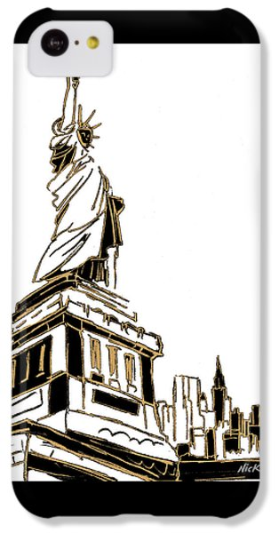 Tenement Liberty IPhone 5c Case by Nicholas Biscardi